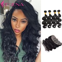 4 Bundles With Closure Body Wave Brazilian Body Wave With Cl...