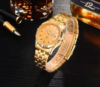 New listing quarts Mens Dress Watches Luxury Casual Acciaio Inox Orologi da polso Impermeabile marca con juwelres punteggiato.