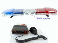 120 CM 56 W LED Araba Uyarı Lightbar, Polis Ambulans Yangın Acil Işık Bar, Acil Durum Işıkları + 100W Hoparlör + 100W Siren Amplifikatörler, Su geçirmez