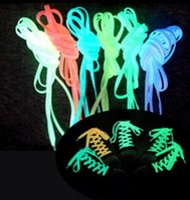 El ccsme libre DHL 200pcs / 100 pares Cordones del resplandor del LED cordones luminosos del zapato que destella la fiesta del disco enciende resplandor en la correa de nylon oscura