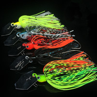 Buzzbait Fishing Lure Rubber Jig Compound Bait Finness Chatter Spinner Spoon Artificial Fish Jigs Head 7cm / 10g