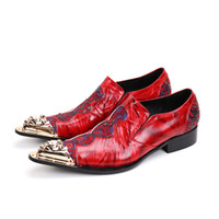 Fashion Chaussure Homme Oxfords Floral Embroidery Handmade M...