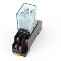 Relais de puissance de bobine LY2NJ 12V DC / 24V DC Bobine relais miniature DPDT 8 broches 10A 240V AC LY2 HH62P LY2 JQX-13F avec socle PTF08A