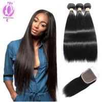 Best 100% Unprocessed Human Hair With Closure, Brazilian Hair...