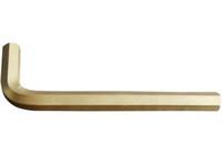Llave clave de bronce de bronce de aluminio sin chispas de 5 mm, herramienta de mano de seguridad a prueba de explosiones.