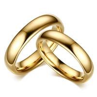 커플을위한 연인 빈티지 텅스텐 카바이드 웨딩 링 고체 골드 컬러 애호가의 약혼 Anel 보석 무료 배송