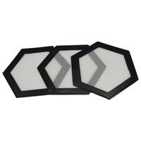 4.8 '' Hexágono Forma Esteiras Alta Bordado Pad Non-Stick Silicone Baking Mat Dabber Sheets dobrável