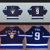 Mighty Ducks Filme Jersey Gunnar Stahl Islândia # 9 100% bordado costurado Hockey Jerseys transporte rápido de Men