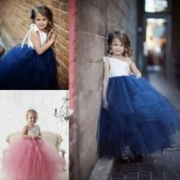 Lovely one shoulder princess little girls birthday party gow...