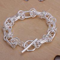 tout nouveau bracelet breloque en argent Big bracelet 925 22x0.9cm DFMWB025, les femmes de haute qualité en argent sterling plaqué bijoux bracelet