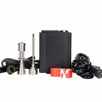 G9 휴대용 티타늄 전기 dab 네일 PID 온도 컨트롤러 E 네일 키트 14 18 MM 오일 장비 dabber 상자 석 영 네일 유리 봉