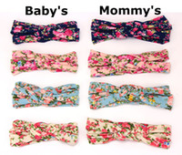 2017 New baby and mom rose floral headbands set Top Knots He...