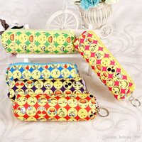 Pencil Bag With Zipper Cute Smile Emoji Durable Student Stat...