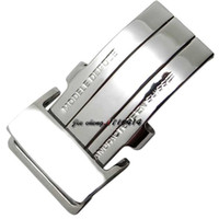 20mm YENI Yüksek Kalite Erkekler Kadınlar için Paslanmaz Çelik Watch Band Kayışı Toka Gümüş Dağıtım Toka Breitling Band