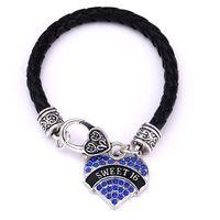 Alta qualità moda placcato in rodio dolce sedici 16 cristallo trasparente cuore argento aragosta artiglio gioielli regalo