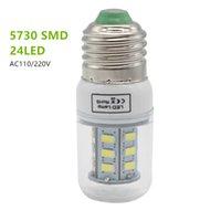 높은 빛나는 E27 5730 SMD LED 옥수수 벌브 110V 220V 24LEDs 집에 옥수수 전구에 대 한 스포트 라이트 램프 빛