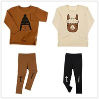 2017 Long Sleeve Kids Clothing Crianças Autumn Tiny Cotton Boys Meninas T Shirt 0-6Y Tees Alpaca Printing Kids Clothes