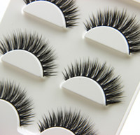 3 Pairs Pure Hand 3D Curling False Eyelashes Brown Eyelashes...