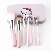 7Pcs Hello kitty Brush Set Make Up Cosmetic Brush Kit Makeup...