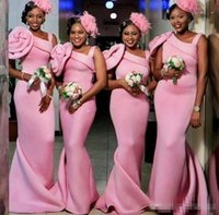 2017 African Pink Mermaid Bridesmaid Dresses Long One Should...