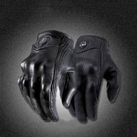 Moto Racing Gloves Leather motorcycle gloves cycling Perfora...