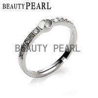 5 Pieces Ring 925 Sterling Silver Cubic Zirconia for DIY Mak...