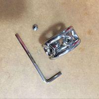 남성 나사 스파이크 SM, BD 섹스 장난감 새로운 패션 디자인 28mm / 30mm / 32mm 금속 수탉 링 19mm 두께의 스테인레스 스틸 음경 링