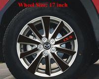블랙 탄소 섬유 비닐 바퀴 허브 스티커 MAZDA CX-5 CX5 2012 2013 외부 데칼 자동차 스타일링