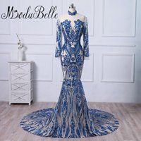 Modabelle Sexy Blue 2018 Lange Abendkleider Party Frauen Schöne Prom Formal Mermaid Abendkleid Kleid