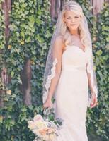Tek Katmanlı Kısmi Dantel Trim Kenar Düğün Peçe Parmak Uzunluğu Kısa Tül Gelin Peçe Tarak Düğün Aksesuarları ile T-27