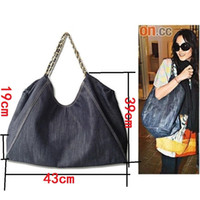 New WOmen Fashion Denim cloth single Shoulder Bag, Canvas ba...