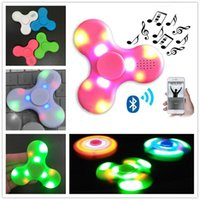 2017 Newest Bluetooth Music With Led Fidget Spinner Hand spi...