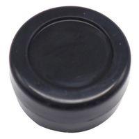 100 pz 3 ML nero poco costoso piccolo rotondo contenitore di silicone antiaderente vasetti dab silicone cera contenitore OD 26 * ID 18 * T 17 MM