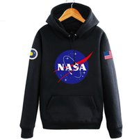 NASA Mars Rescue hoodies for men autumn letter print long sl...