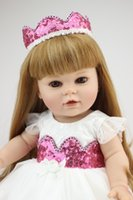 "American 18"" Girl Doll Full Vinyl Fashion Baby Toy Real..."