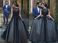 La venta caliente 2016 vestidos de boda negros de la longitud del piso de tul vestidos de novia de encaje Vestidos de novia barato más el tamaño de Bohemia vestido de novia Berta nupcial