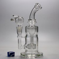 recycler glass bong water pipes oil rig thick 5MM glass bubb...