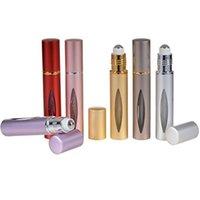 10 ml Mini rollo en botella de aluminio Aceite esencial Acero Metal Roller bola perfume Perfume