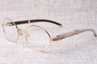 2019 novos óculos redondos retros 7550178 óculos de chifre misto homens e mulheres óculos de armação de óculos tamanho: 55-22-135mm