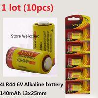 10 pcs 1 lote 4LR44 476A 4A76 A544 V4034PX PX28A L1325 6 V bateria alcalina seca 6 Volt Cartão de Baterias VSAI Frete Grátis