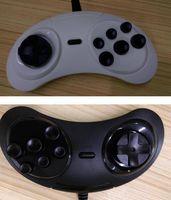 게임 SEGA Genesis / MD2 Y1301 USB 게임 패드 게임 컨트롤러 6 버튼 SEGA USB 게임 조이스틱 홀더 PC MAC 메가 드라이브 게임 패드