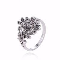 2017 Promotion Anillosファッションチャームレトロ925シルヴァアクセサリータイピーコックリングPandora Woman Jewelryと互換性