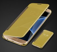 Flip Clear View Mirror Case For Samsung Galaxy S8 S8 Plus S7...