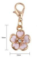 20 teile / los 16x13mm Vergoldete Blume Schwimm Anhänger Charme Mit Karabinerverschluss Fit Für Kette Medaillon Halskette Armband Machen