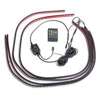 4 ADET 5050 SMD RGB LED Şerit 12 V DC Auto Araba Tüp altında Underglow Underbody Sistemi Işık Tüp Kiti Su Geçirmez Kablosuz Kontrol