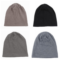 Comfortable Earflaps Wool Hats No Eaves Solid Color Men And ...