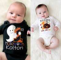 2016 fashion baby girl bodysuit Halloween kolton letter prin...