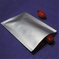 15 * 18cm Mylar Flat Foil Bag Silver Heat Seal Plating Pure Foil Aluminium Alimenti Stoccaggio Retail Packaging Open Top Vacuum Pouch