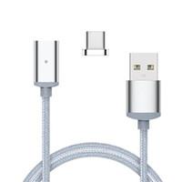Nylon Magnétique Micro USB Adaptateur Pour Samsung Sync Fil Câble de Données Rapide De Charge Tant Pour Android Pour V8 HTC HUAWEI