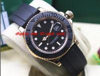 Orologio da polso di lusso 40mm quadrante nero Dot orologio da uomo in oro rosa con lunetta 116655 Orologi da uomo meccanici di alta qualità